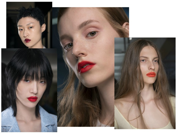 red lip catwalk ss18