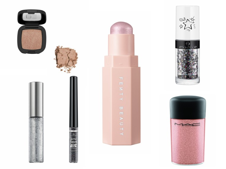 fenty beauty highlighter pigment m.a.c glitter liner Urban decay essence