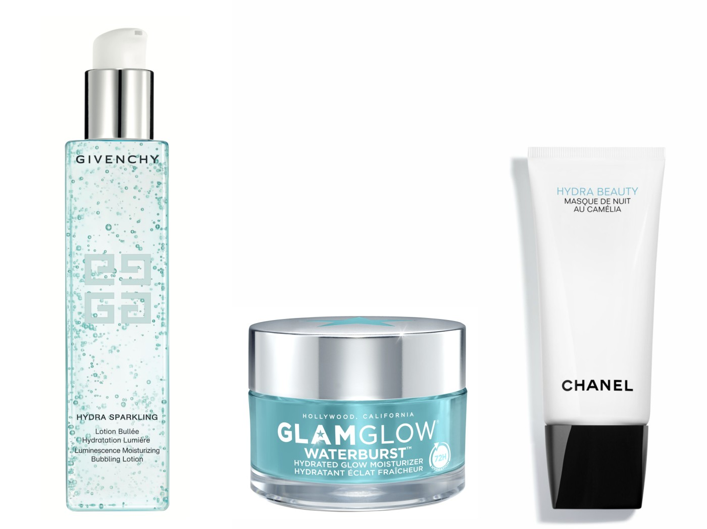 glamglow waterburst hydra beauty chanel givenchy hydra sparkling
