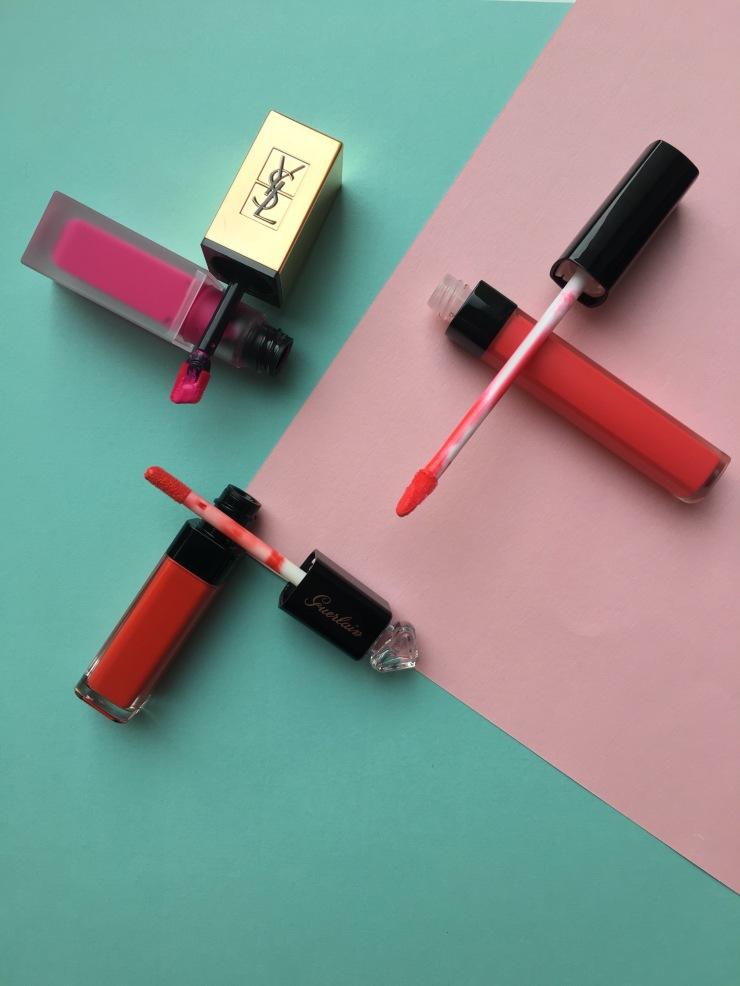 tatouage couture matte stain yves saint laurent rouge coco lip blush chanel la petite robe noire lip colour'ink guerlain