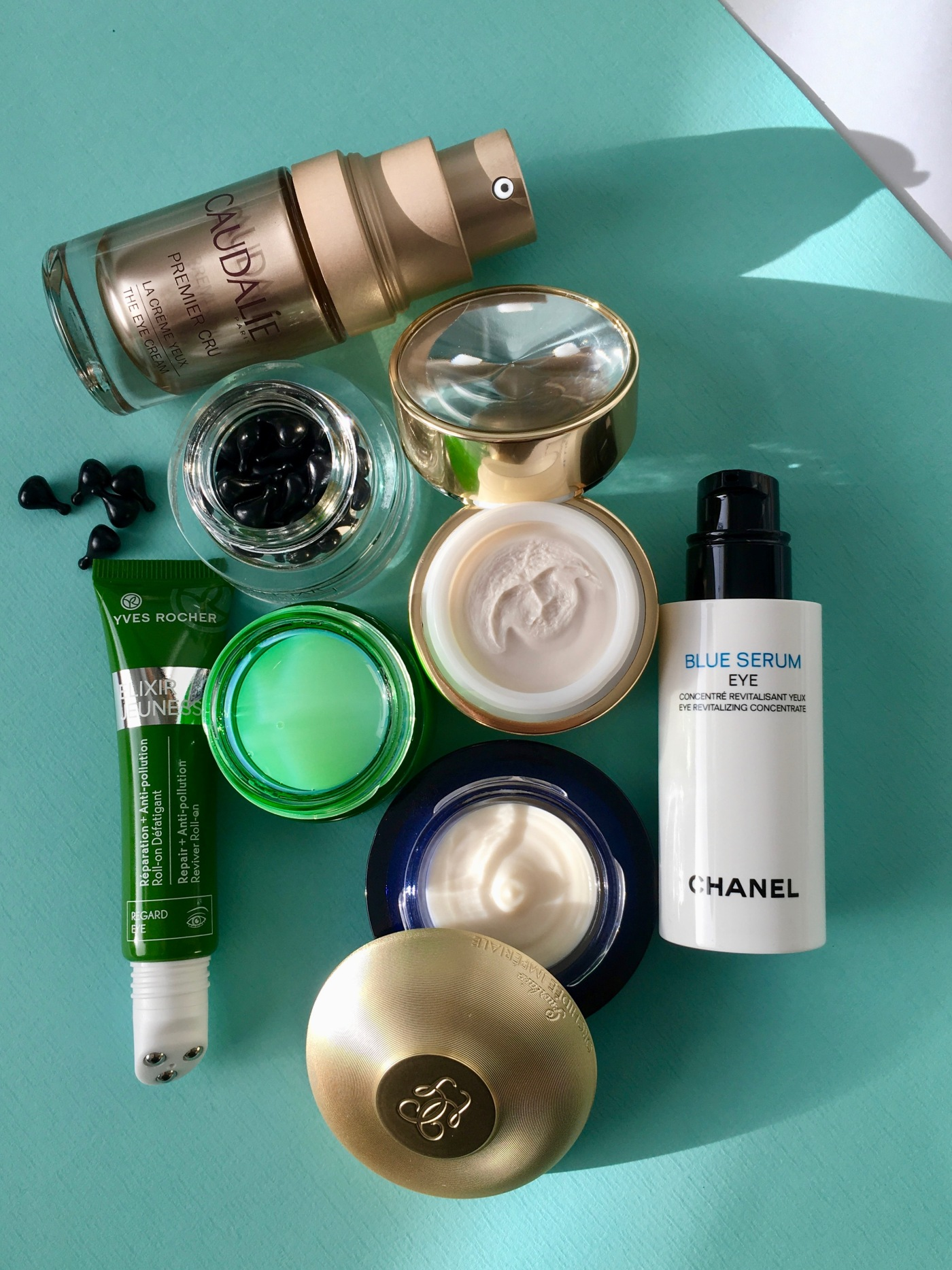 eye cream chanel guerlain yves rocher collistar caudalie estée lauder the body shop