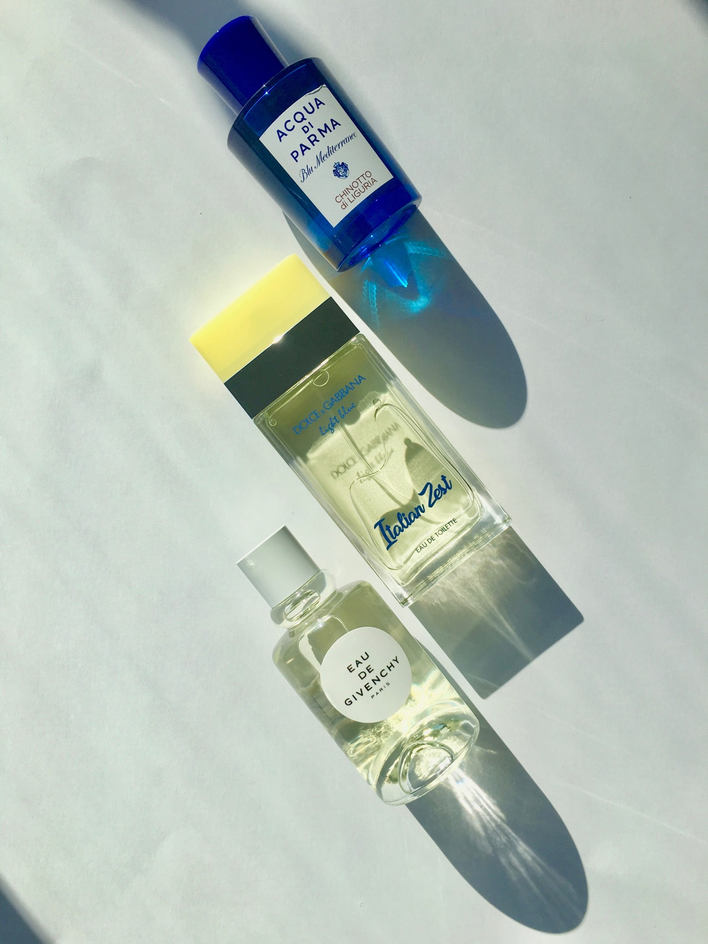 chinotto di liguria acqua di parma Light blue italian Zest Dolce & Gabbana Eau de Givenchy