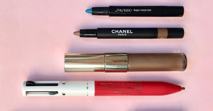 eye make-up clarins stylo 4 coleurs helena rubinstein chanel stylo ombre et contour shiseido kajal ink artist