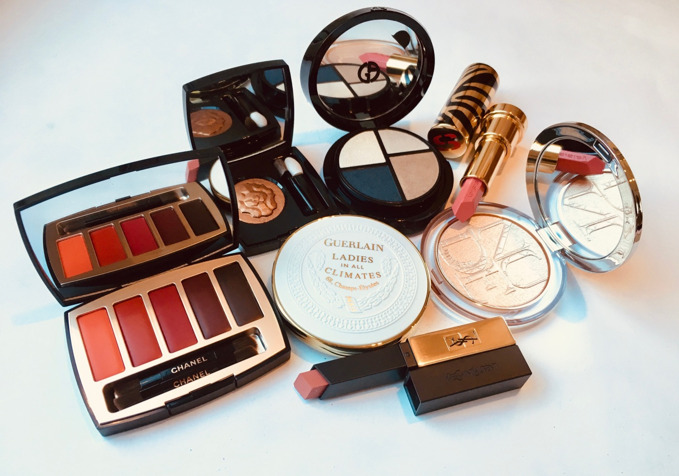 guerlain ladies in all climates chanel christmas yel sisley lipstick armani dior highlighter