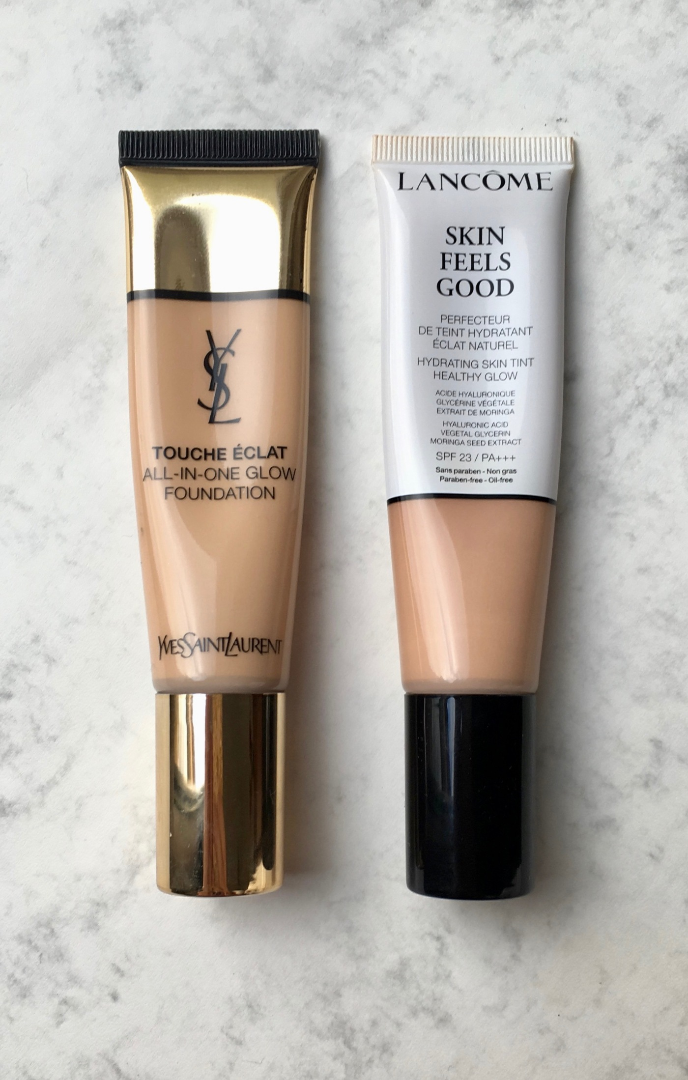 skin feels good lancôme touche éclat all-in-one glow foundation yves saint laurent