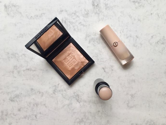 highlighter Giorgio Armani Givenchy Chanel highlight powder highlight stick