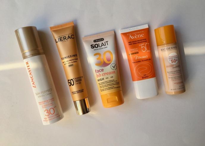 tinted sunscreen lancaster lierac kruidvat avène bioderma