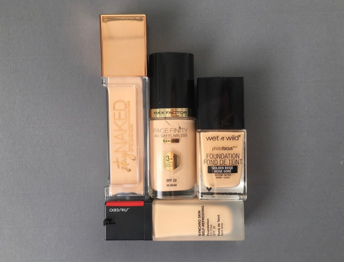 fragrance free foundation Stay Naked foundation urban decay photofocus foundation wet 'n wild face finity max factor synchro skin self-refreshing foundation shiseido