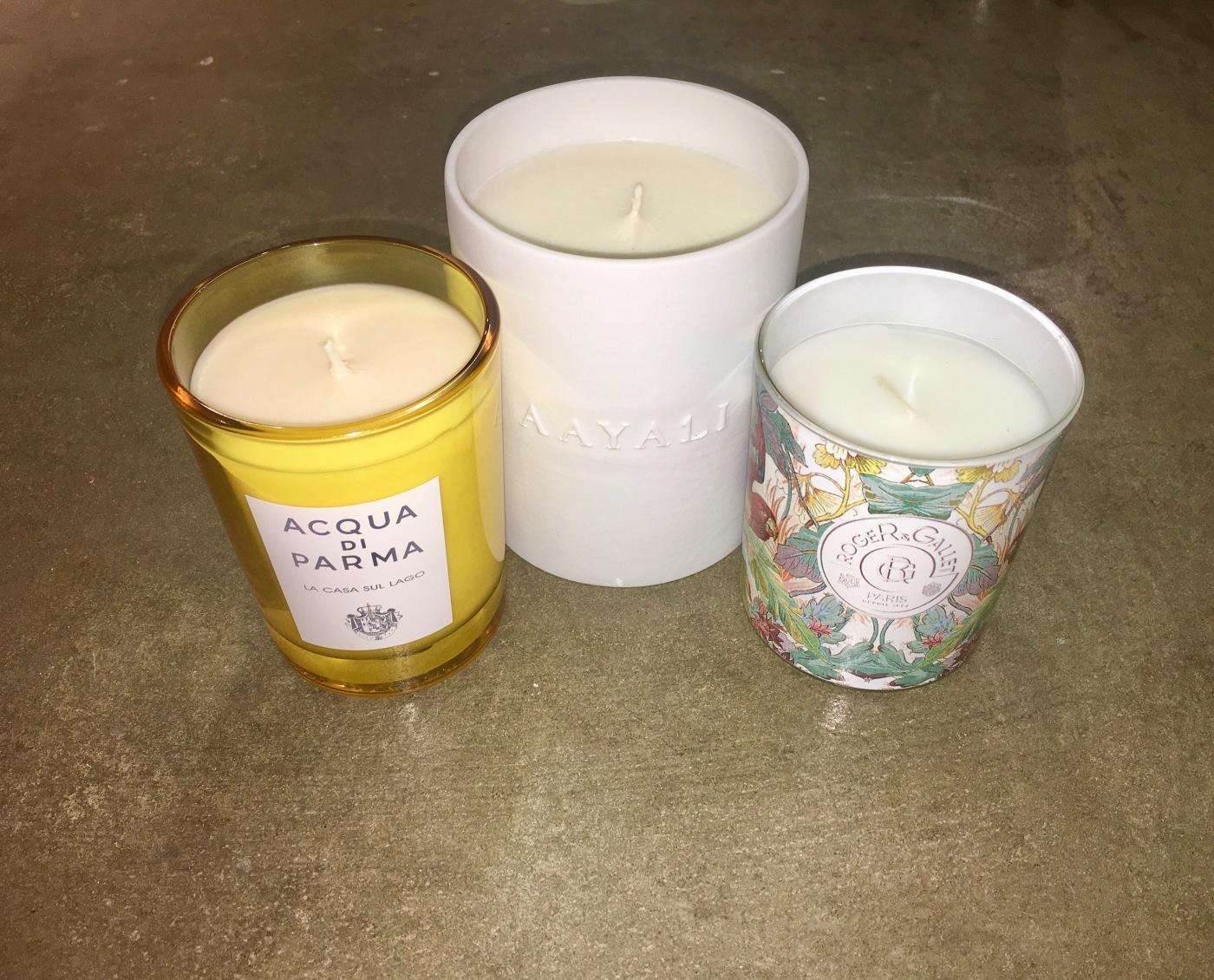 hayali scented candle acqua di parma roger & gallet