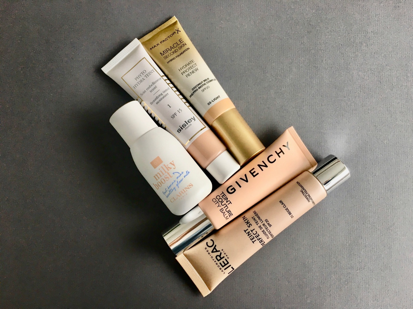 bb cream milky boost clarins teint couture city balm givenchy teint perfect skin lierac phyto hydra teint sisley miracle second skin max factor foundation bb cream