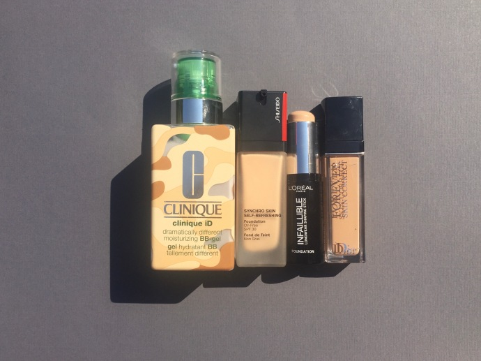 bb gel clinique infaillible foundation stick L'Oréal paris synchro skin self-refreshing foundation dior forever skin correct