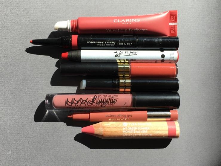 yves rocher onyx lip lingerie velvet lip perfection clarins shiseido le papier matte lipstick max factor joli rouge crayon