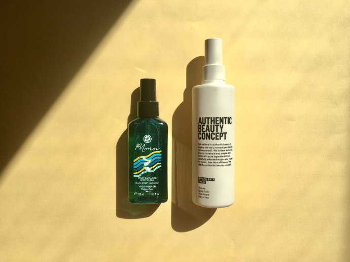 beach wave styling spray Yves Rocher Monoï Authentic Beauty Concept Nymph Salt Spray