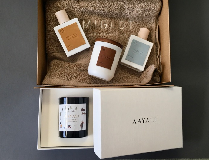gift box miglot aayali scented candle