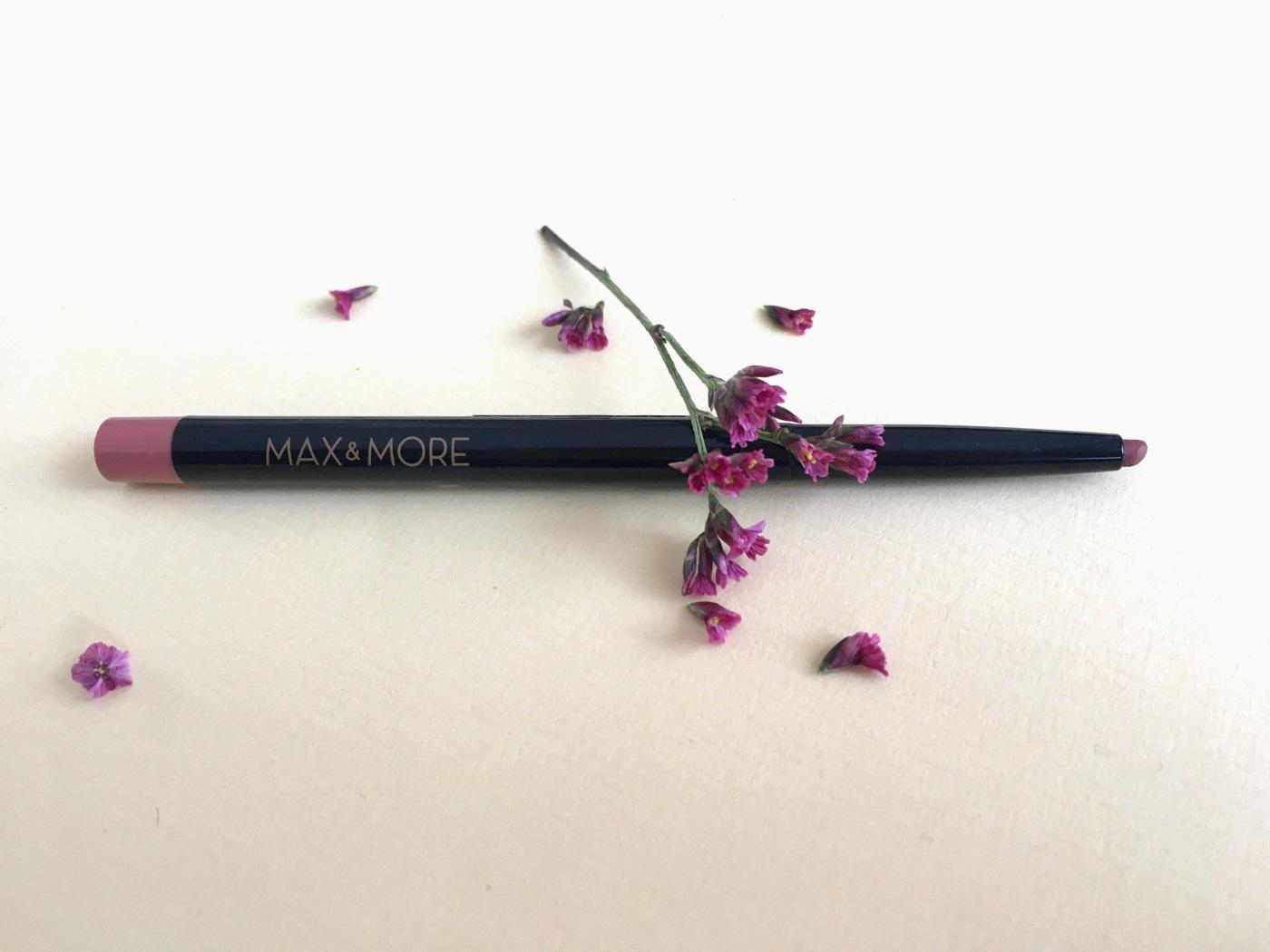 max & more vegan lip liner pencil action