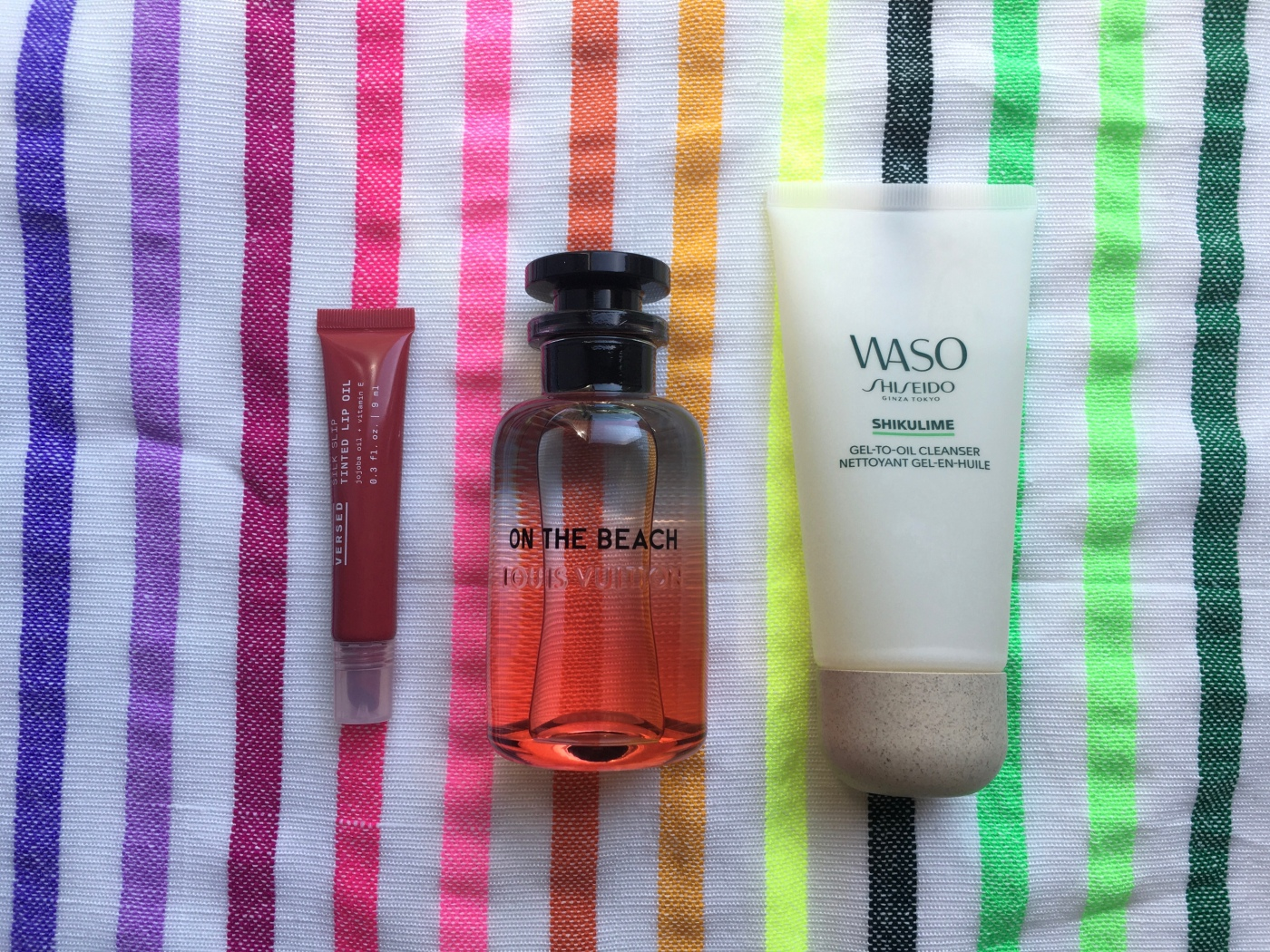 was shikulime gel to oil cleanser shiseido On the Beach Louis Vuitton Versed Tinted Lip Oil